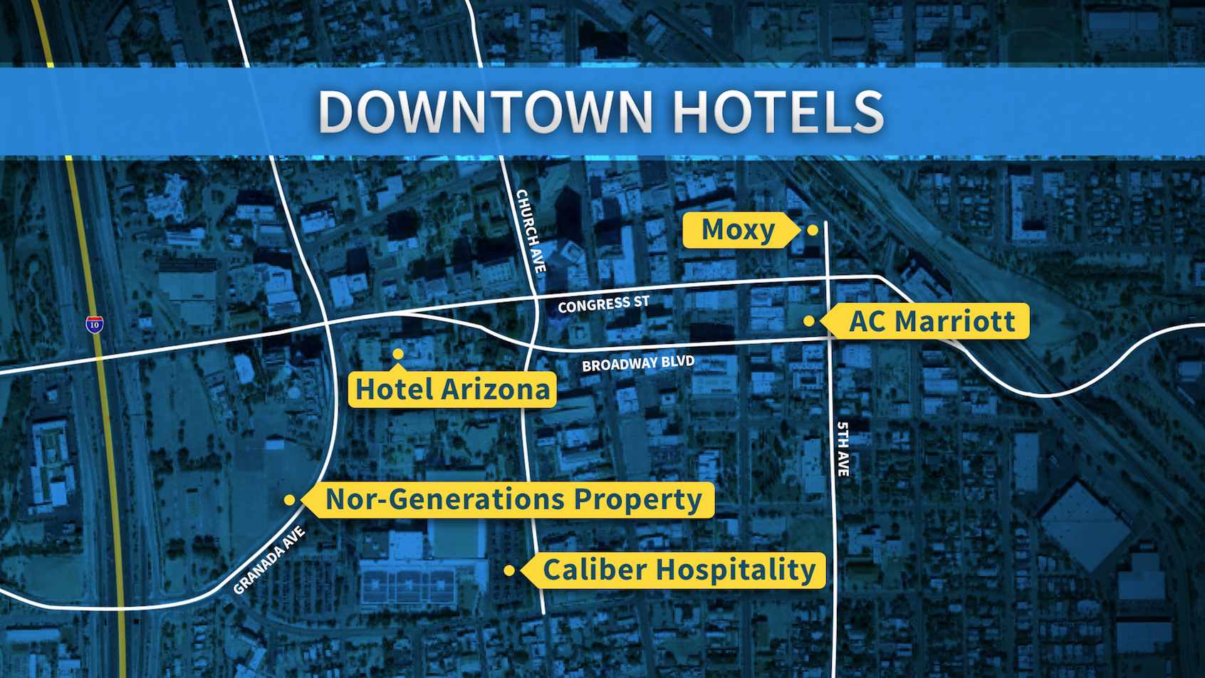 Downtown hotels graphic hero