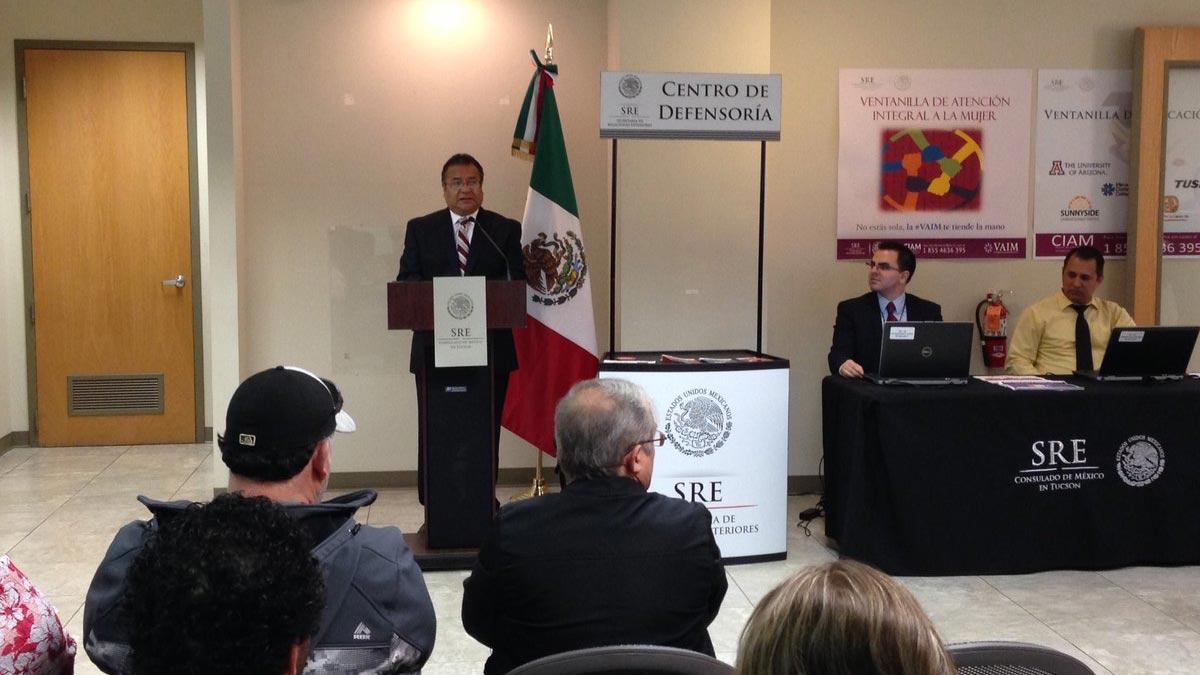 Ricardo Pineda Albarran, Mexican consul in Tucson.