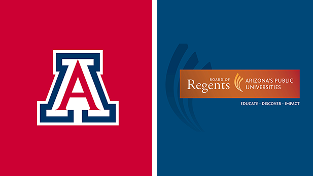 The logos for the University of Arizona and the Arizona Board of Regents.