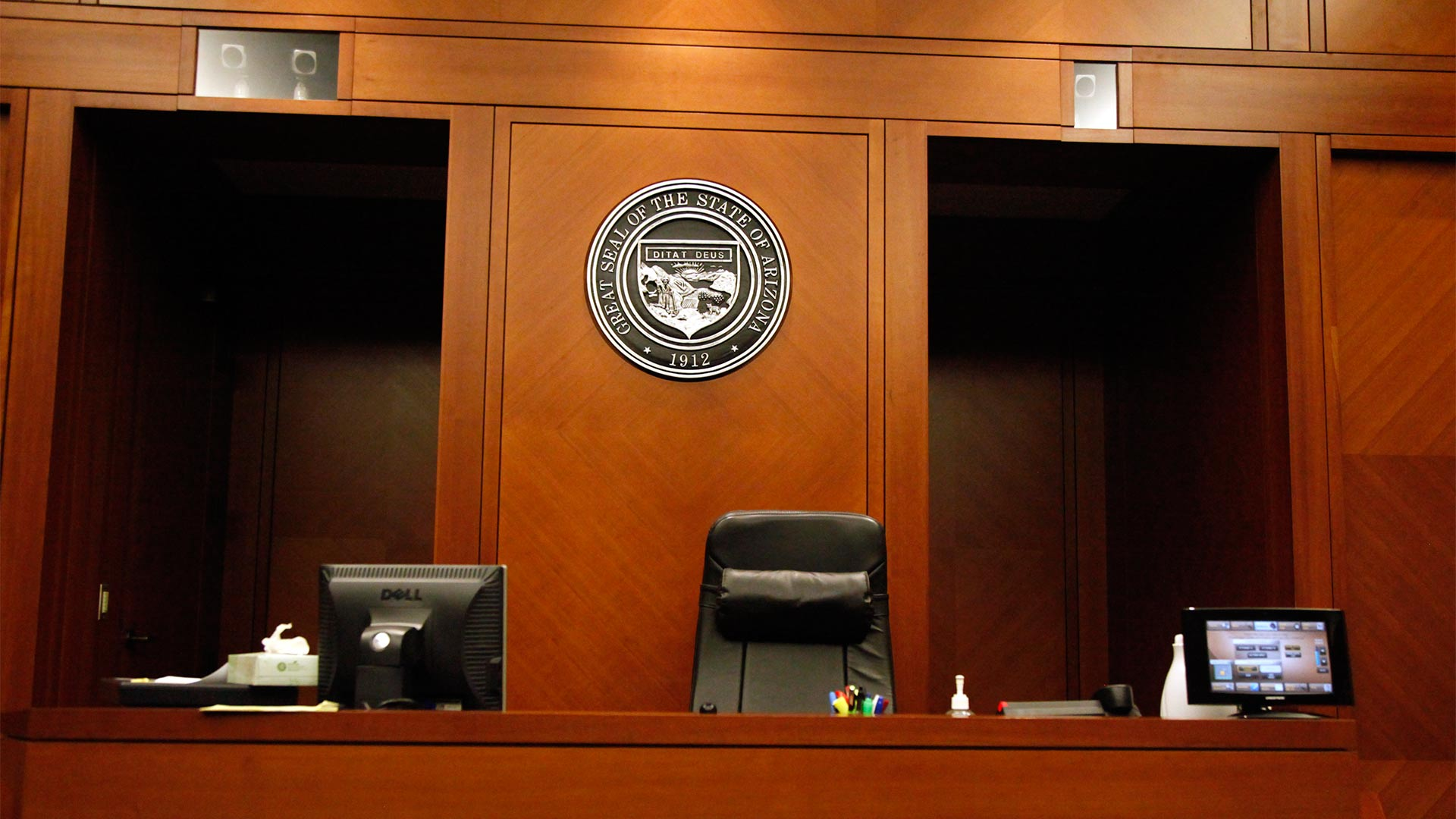 Inside the Pima County Superior Court.