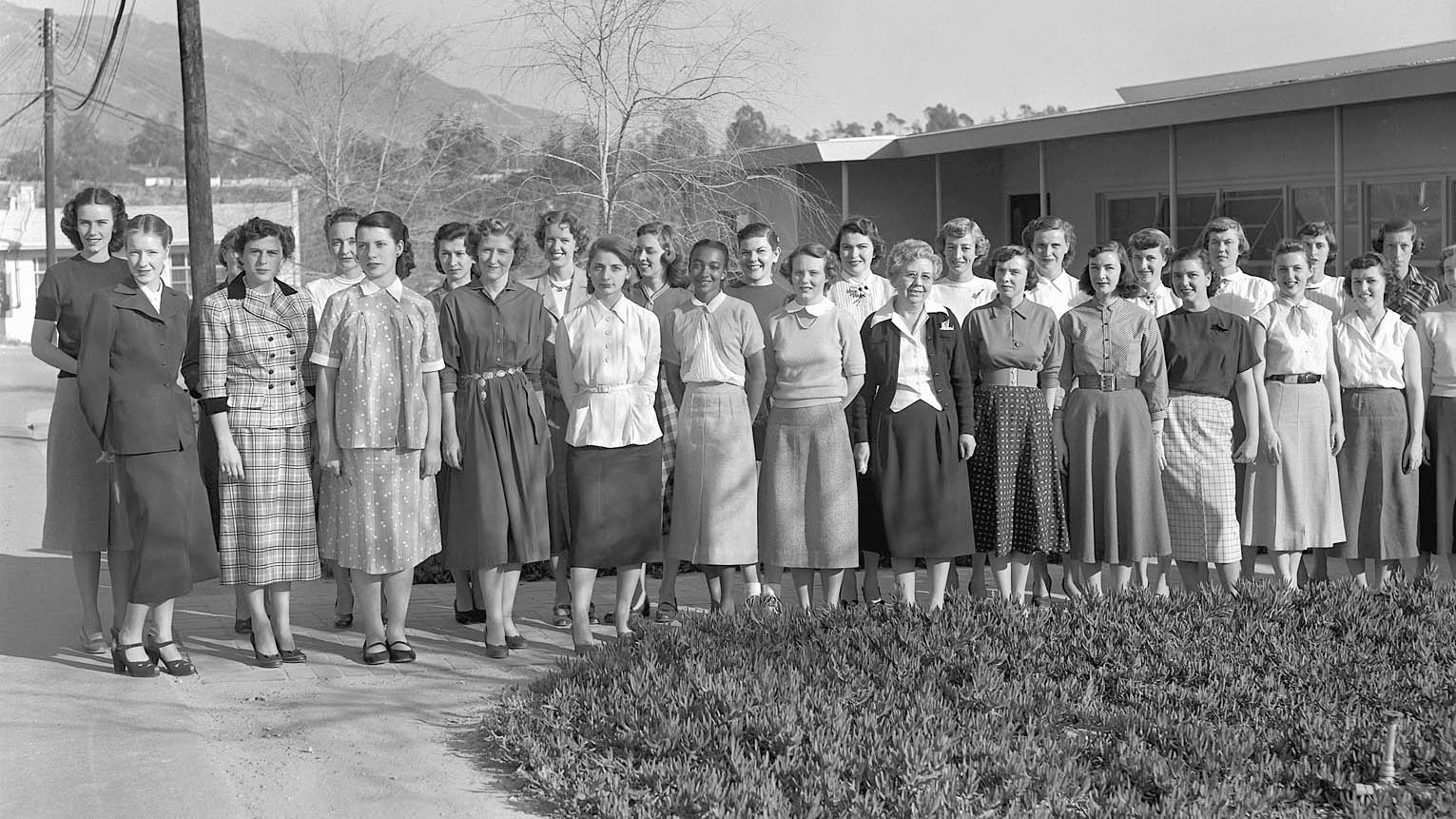 "Female ""computers"" at NASA's Jet Propulsion Laboratory in Pasadena, California."