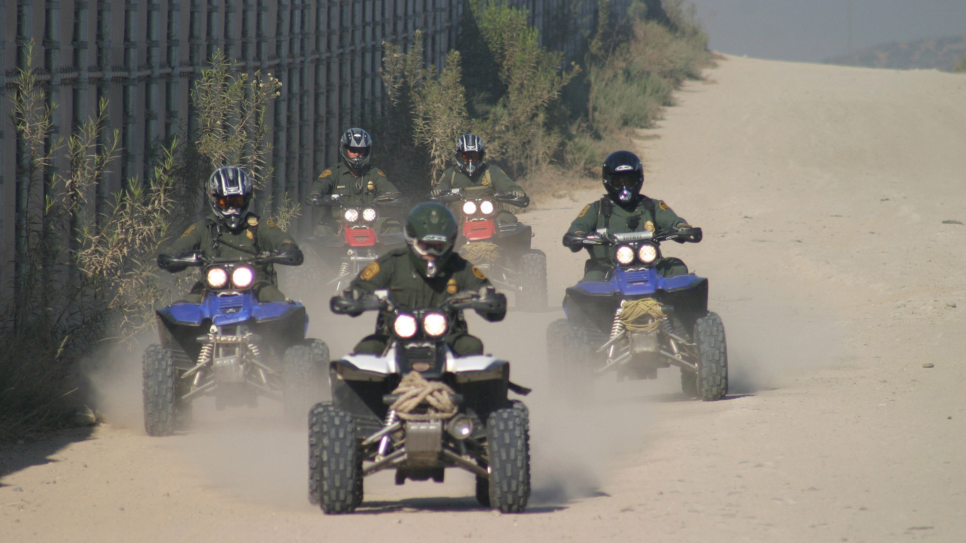Border Patrol agents conducting patrols on ATVs in 2005.