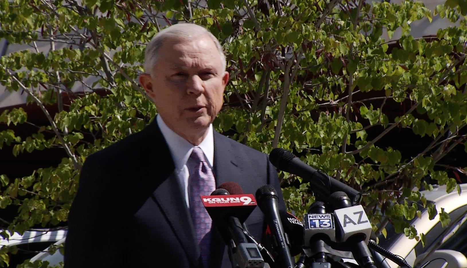 U.S. Attorney General Jeff Sessions in Nogales, April 11, 2017.
