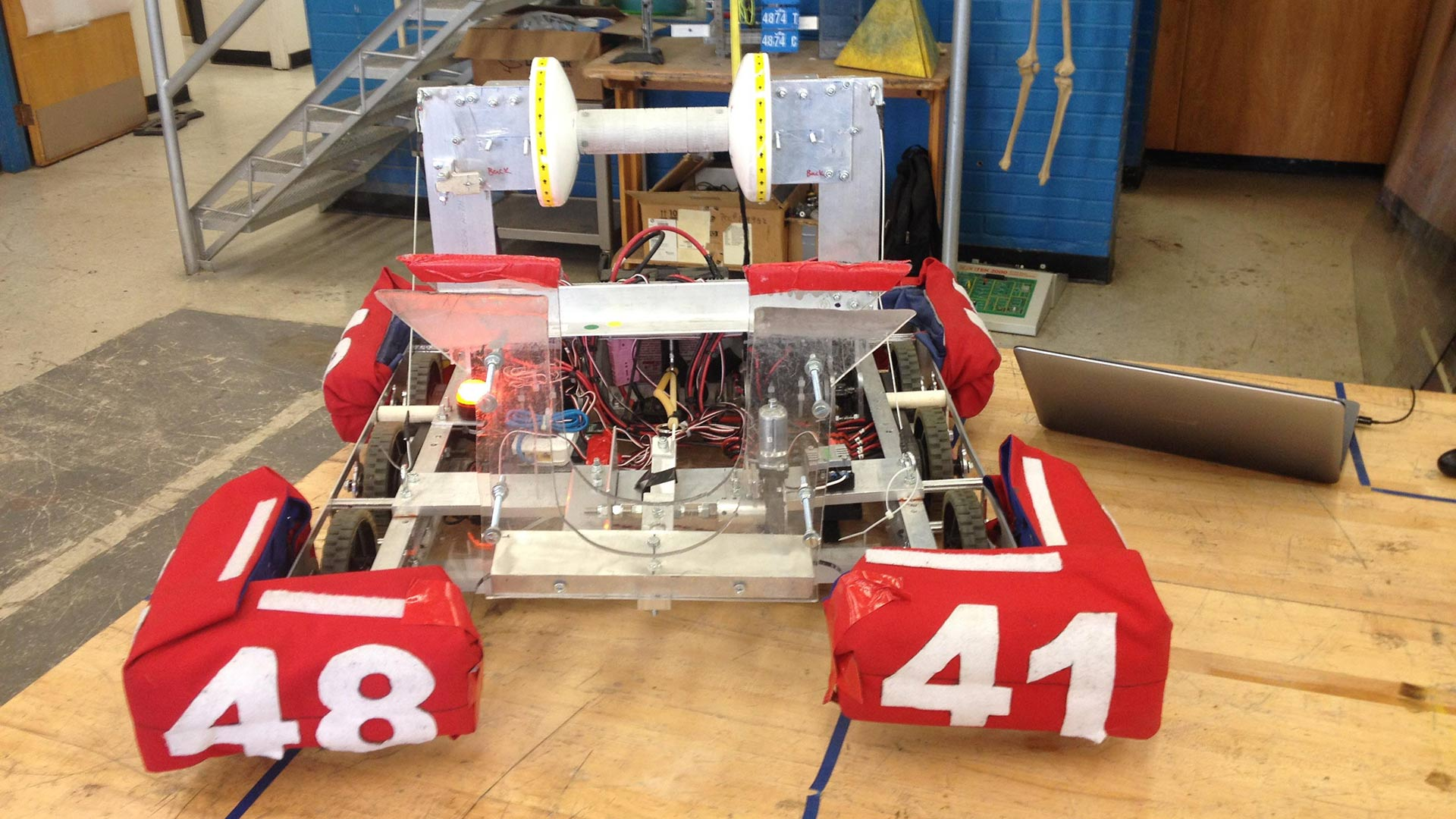 Palo Verde High Magnet School's winning robot, April 10, 2017.