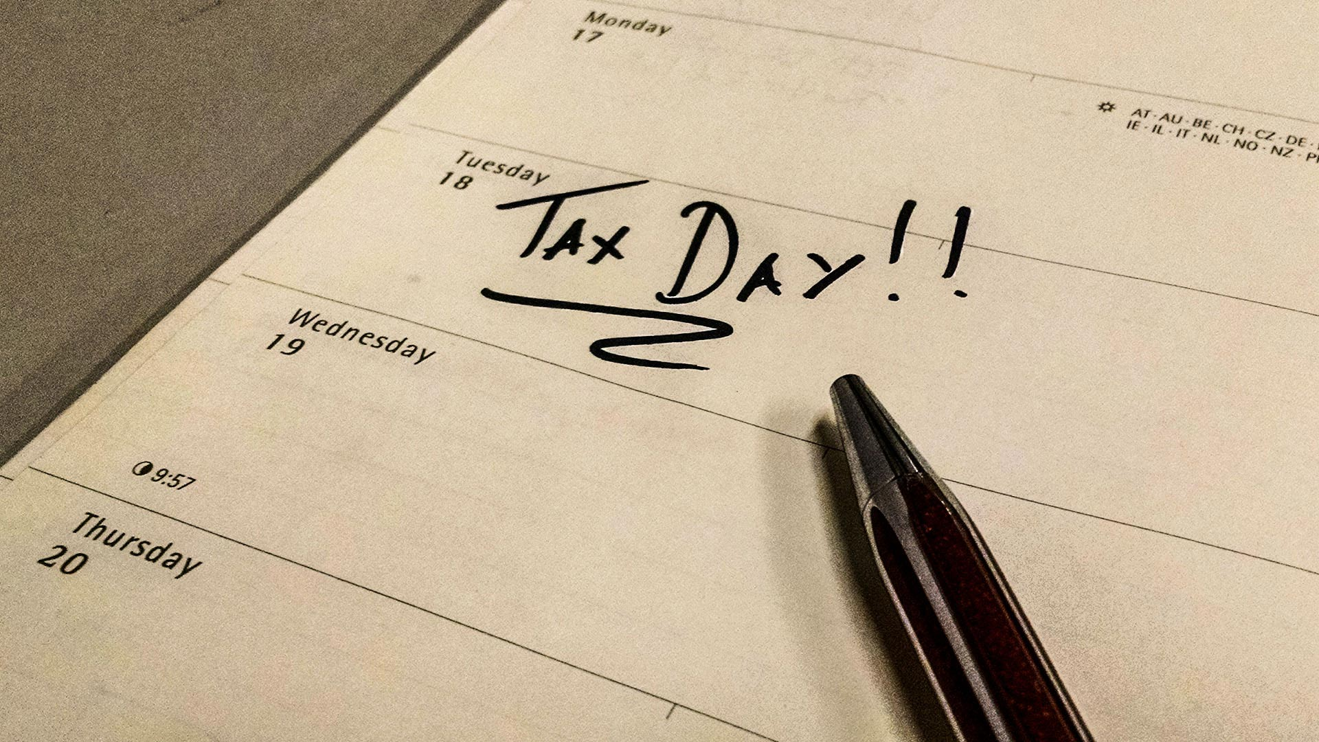 Tax Day 2017 is April 18.
