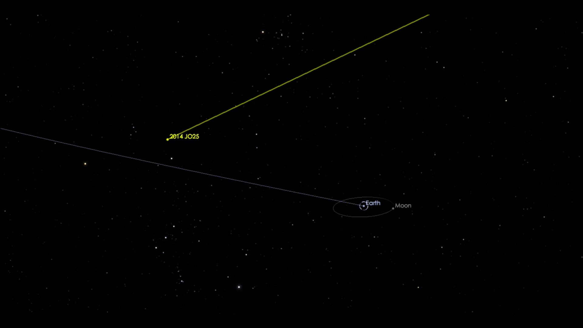 Asteroid 2014 JO25 will pass close to Earth April 19.