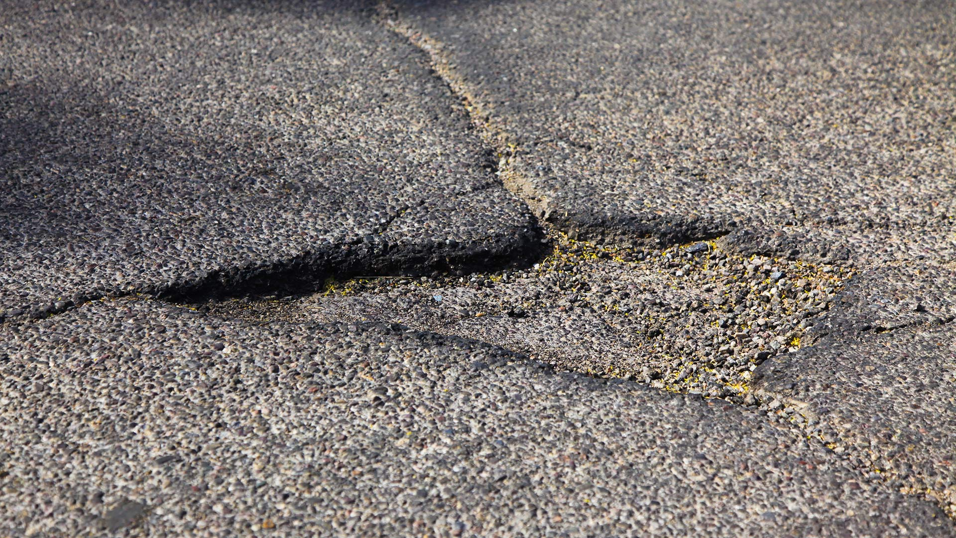 A pothole in Tucson's Menlo Park neighborhood.