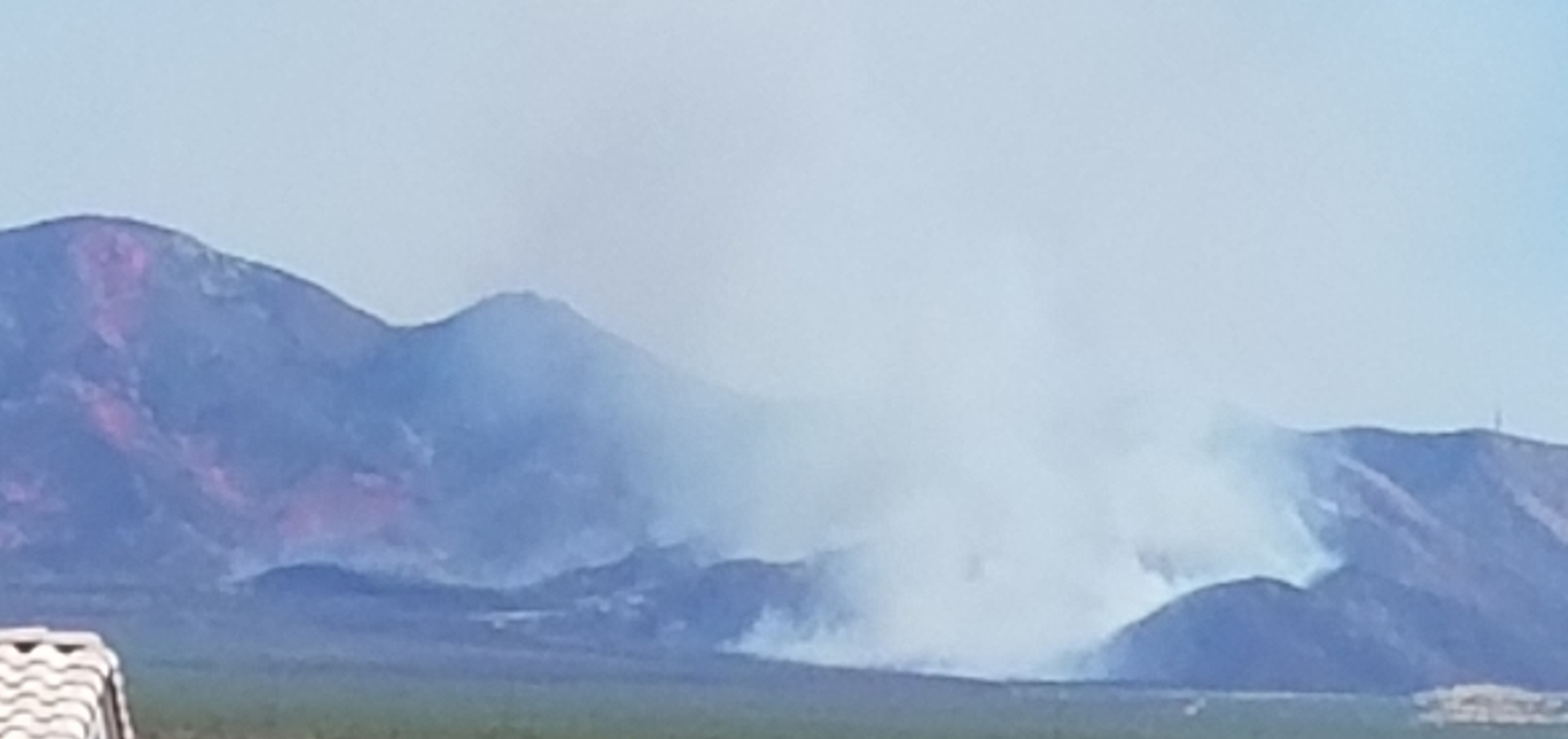 Sawmill fire from Green Valley