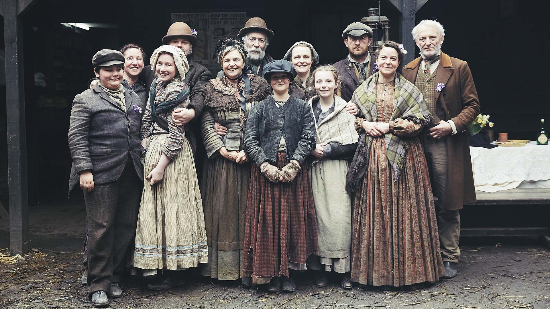 The participants in Victorian Slum House.