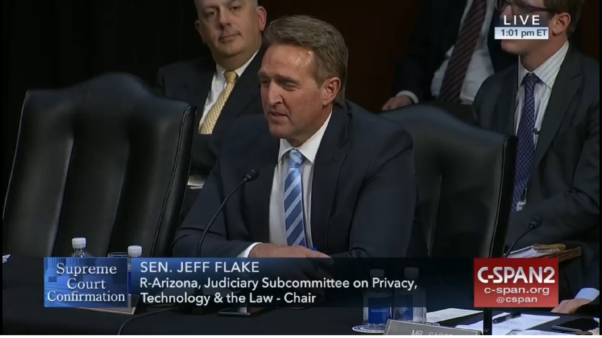 Sen. Jeff Flake, R-Arizona, spoke April 3 before a Senate committee voted to send the Supreme Court nomination of Judge Neil Gorsuch to the Senate floor.