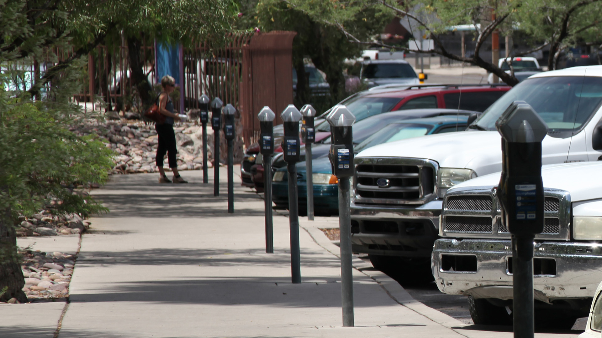 Parking meters in Tucson.