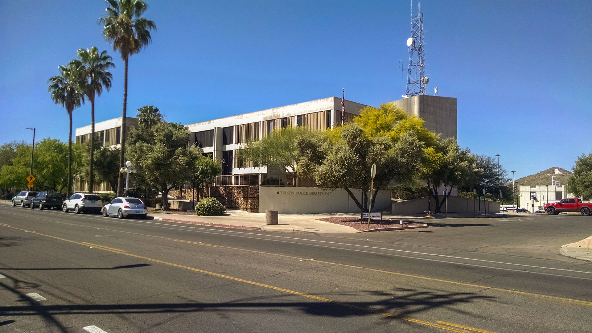 The downtown Tucson Police Department station, South Stone Avenue.