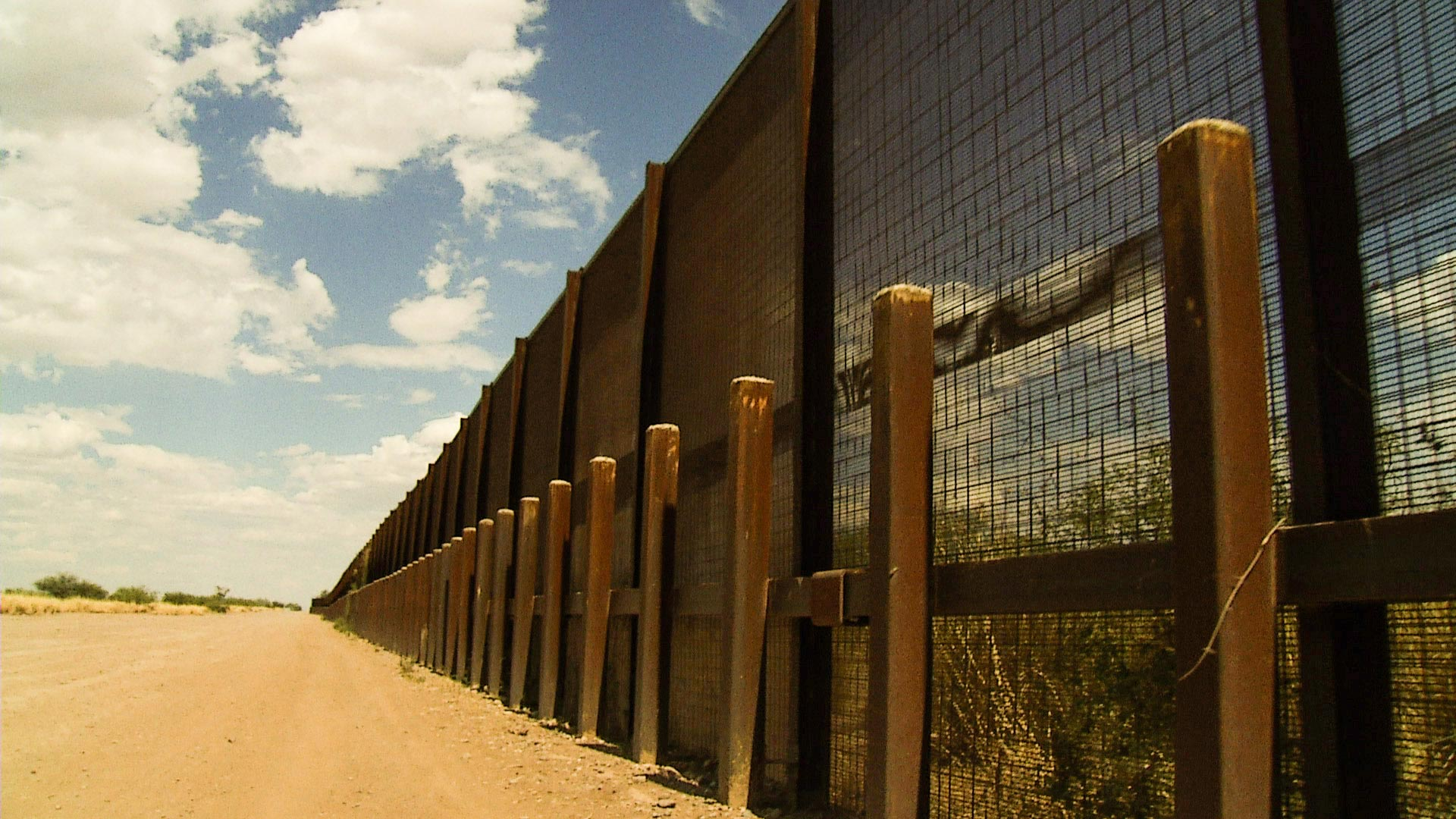 The U.S.-Mexican border fence near Nogales.