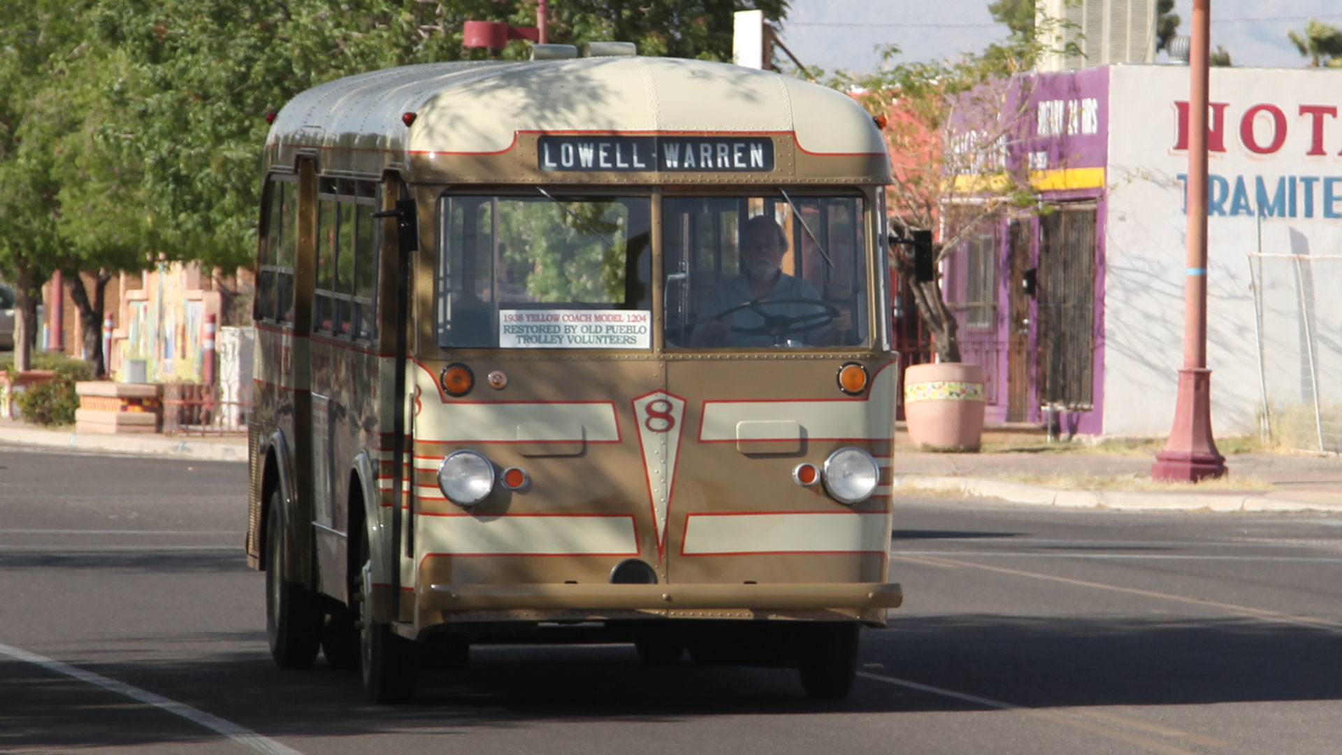 Bisbee bus outside