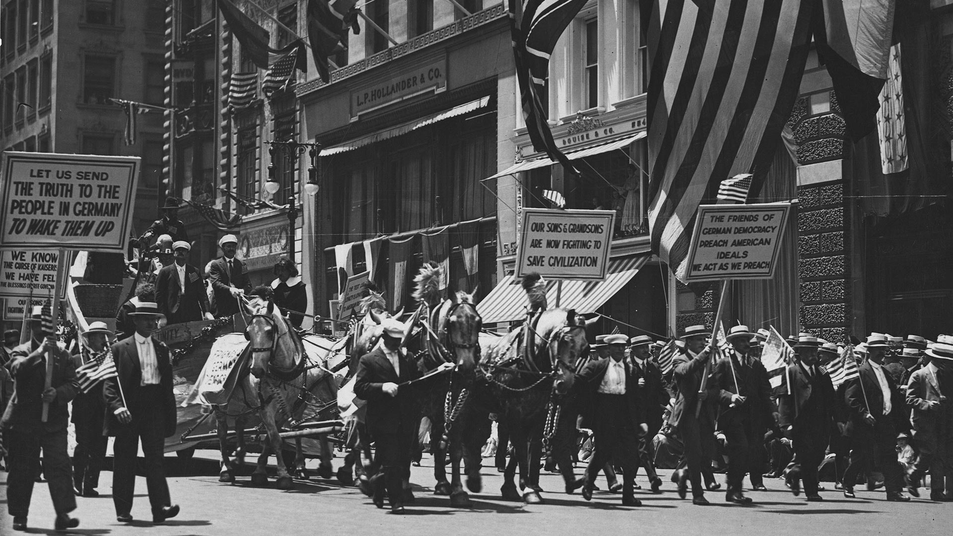Independence Day, 1918, New York City.