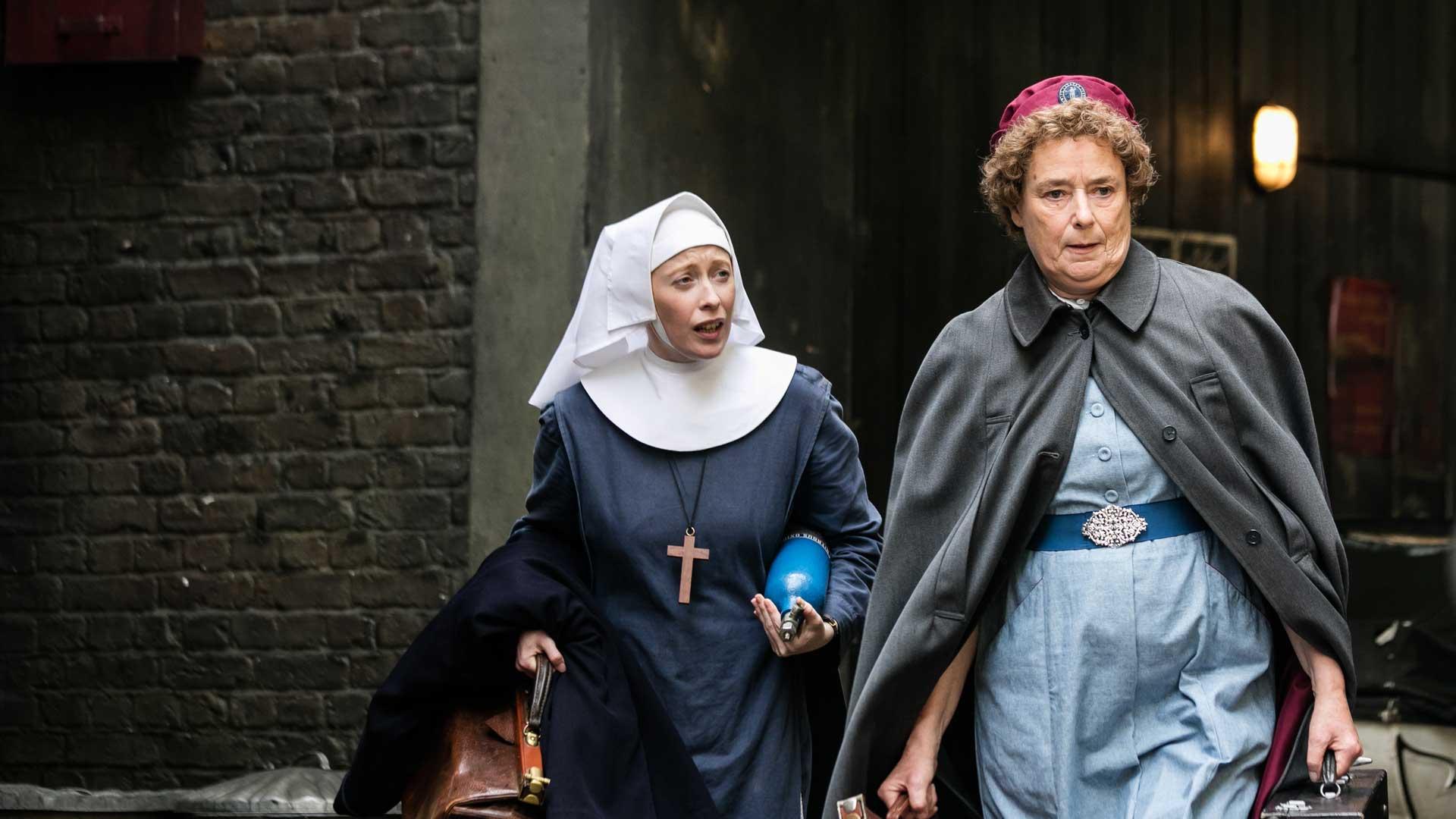 Victoria Yeates as Sister Winifred, Linda Bassett as Nurse Phyllis Crane