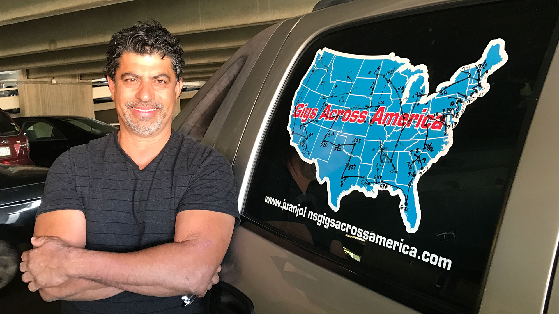 Juan Bayardo, also known as John or Juan John, completed a driving and working tour of the United States.