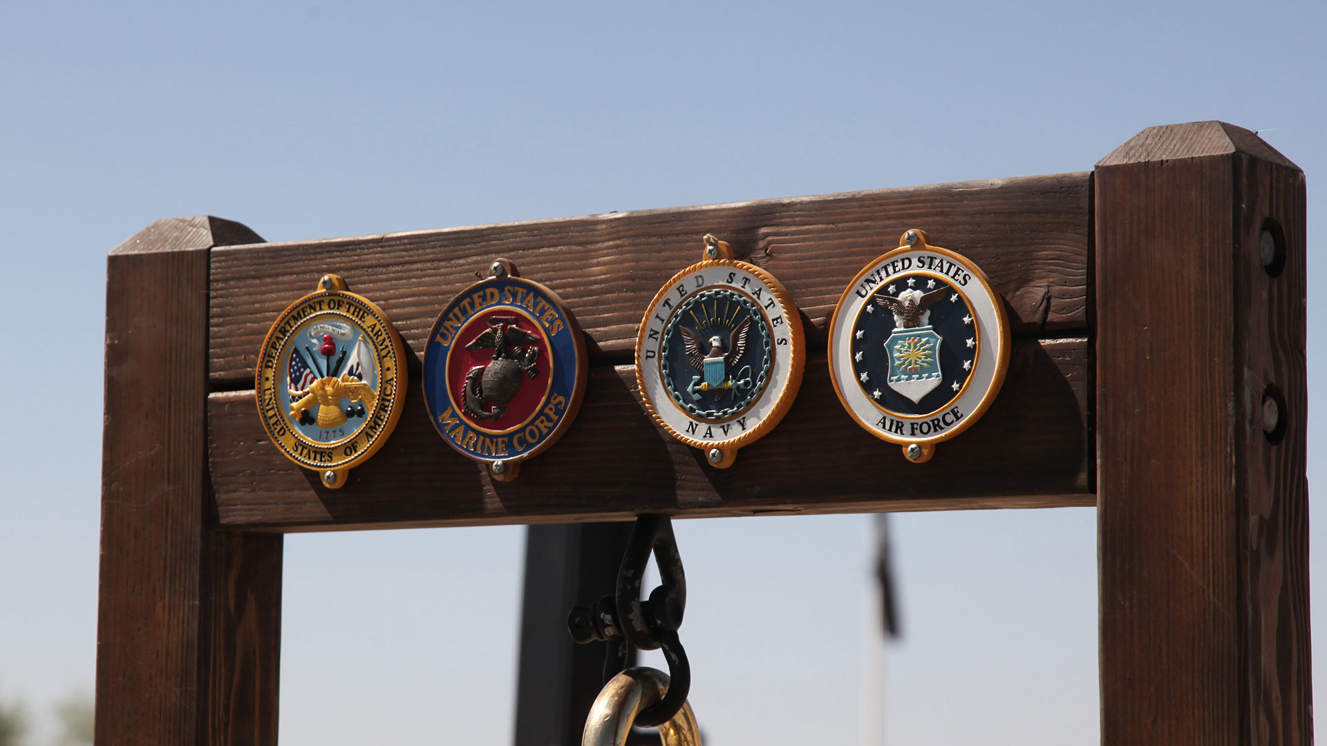 Seals representing each branch of the armed services