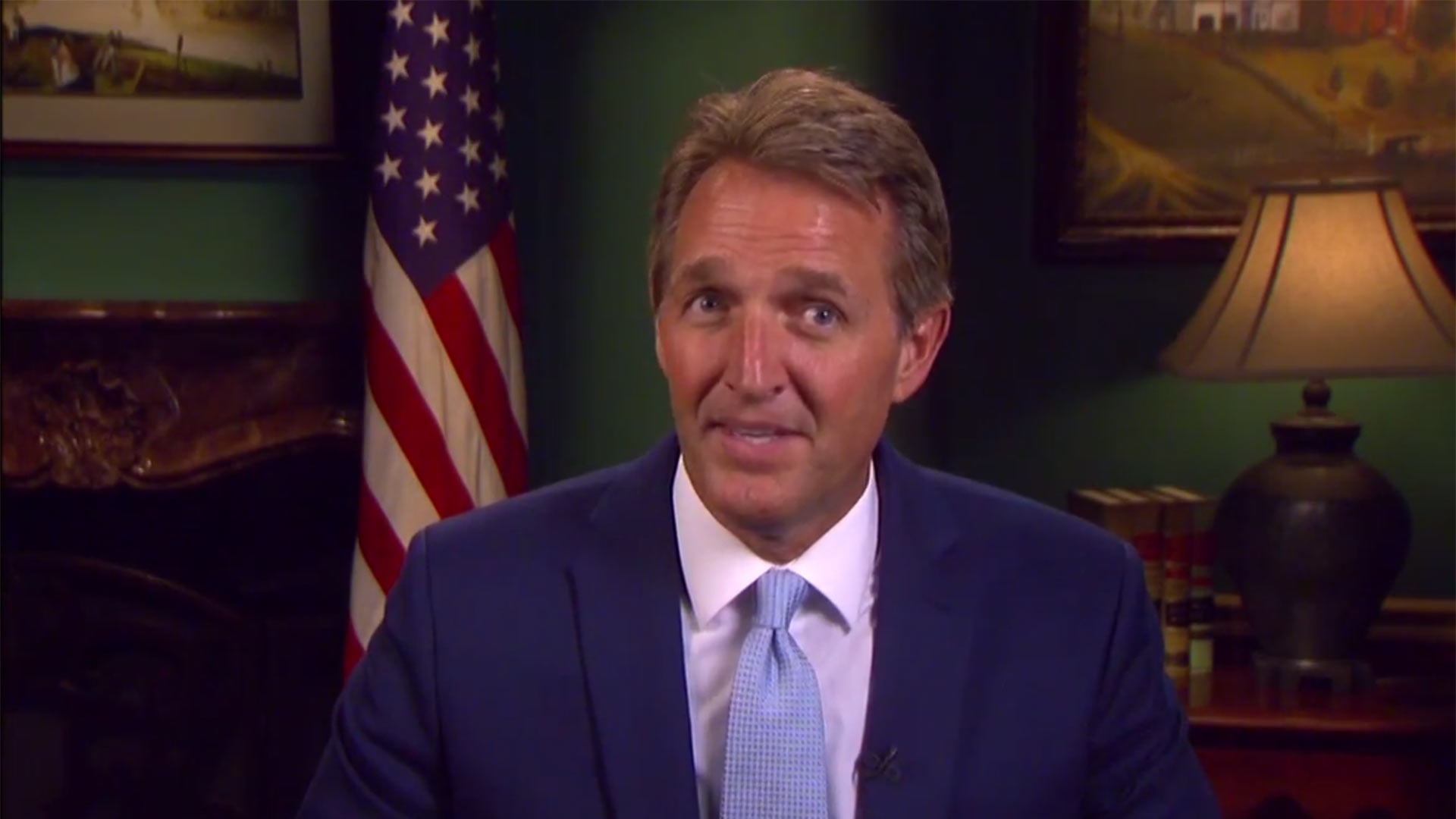 U.S. Sen. Jeff Flake in a YouTube video in which he speaks about NAFTA.