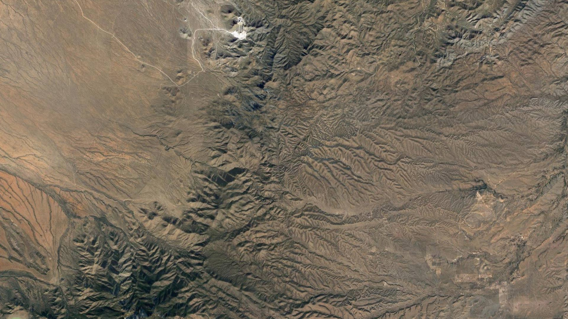 A view above the Santa Rita Mountains from satellite.