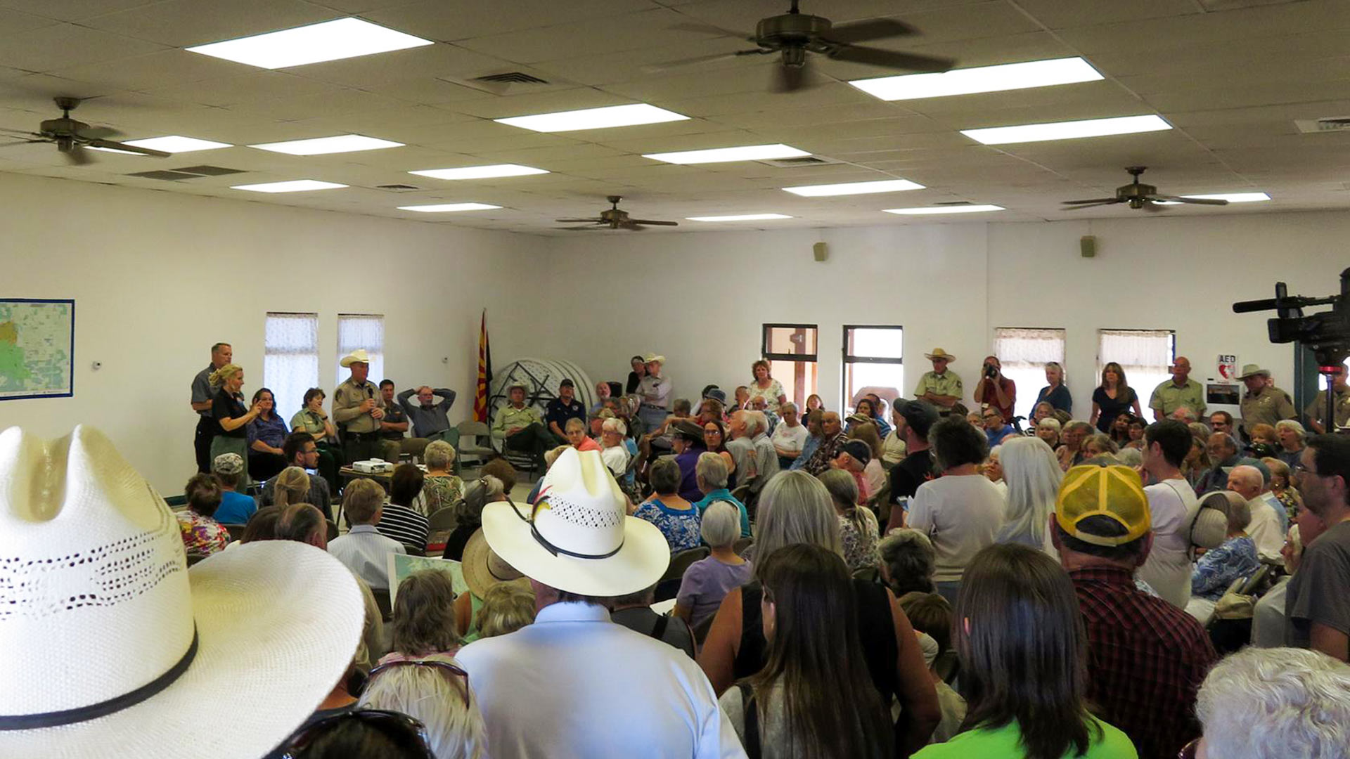 "A Sunday public meeting with fire officials in Sunsites to deliver information about the ""Lizard Fire"" in the Cochise Stronghold area."