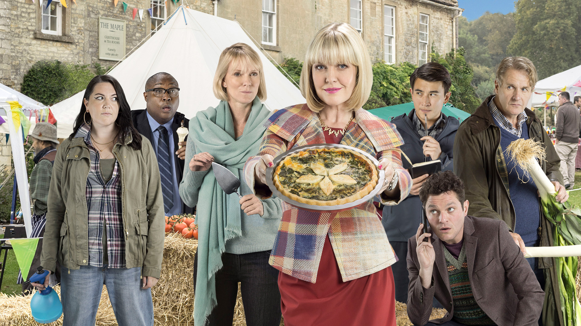 Agatha Raisin stars Ashley Jensen as the Cotswolds-based PR guru turned amateur sleuth.