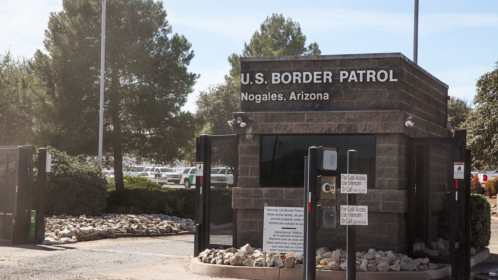 The gate at the Nogales Border Patrol Station, February 2017.