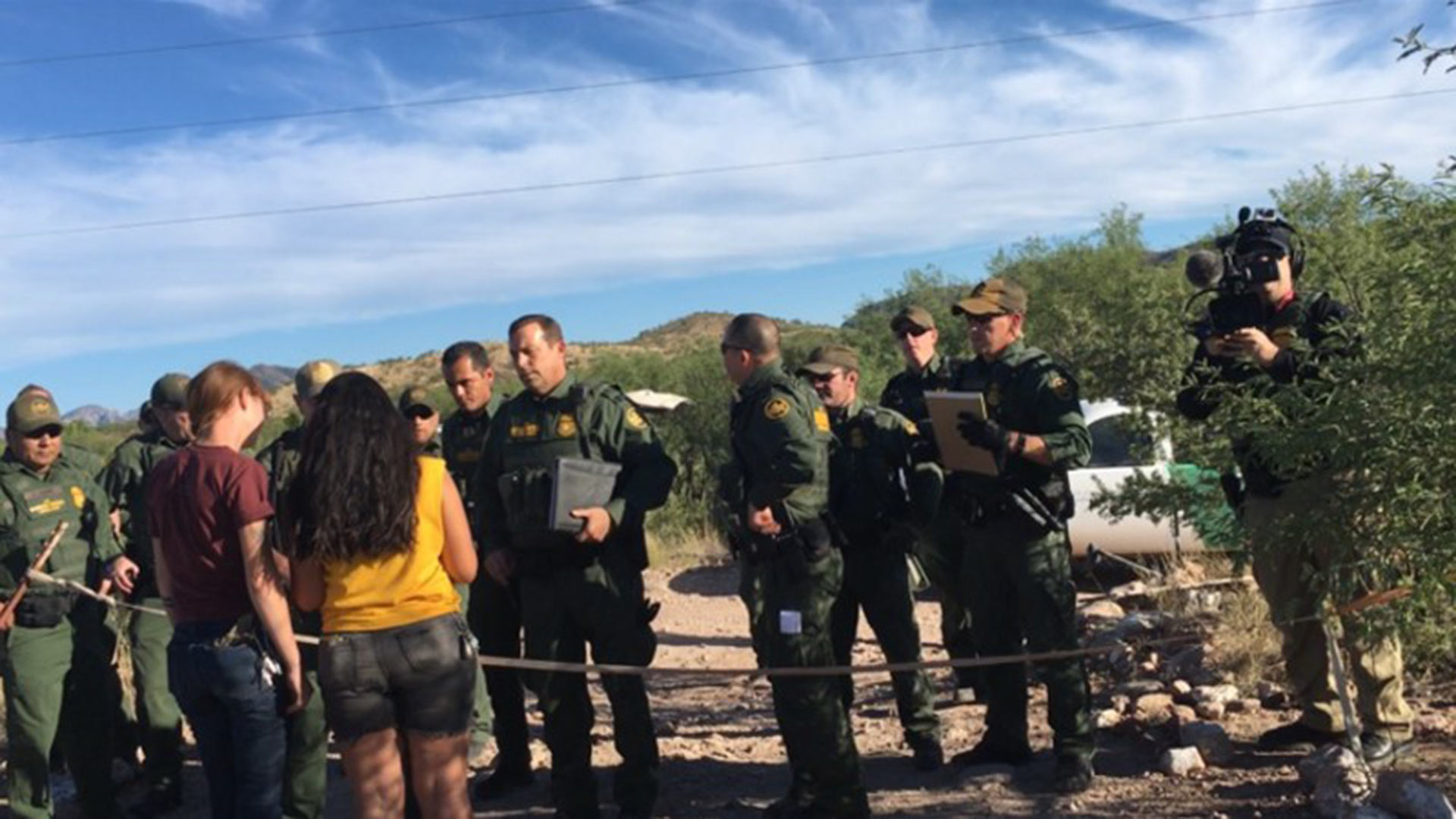 More than 30 Border Patrol agents entered a camp of the No More Deaths migrant aid group on Tuesday, June 13, 2017.