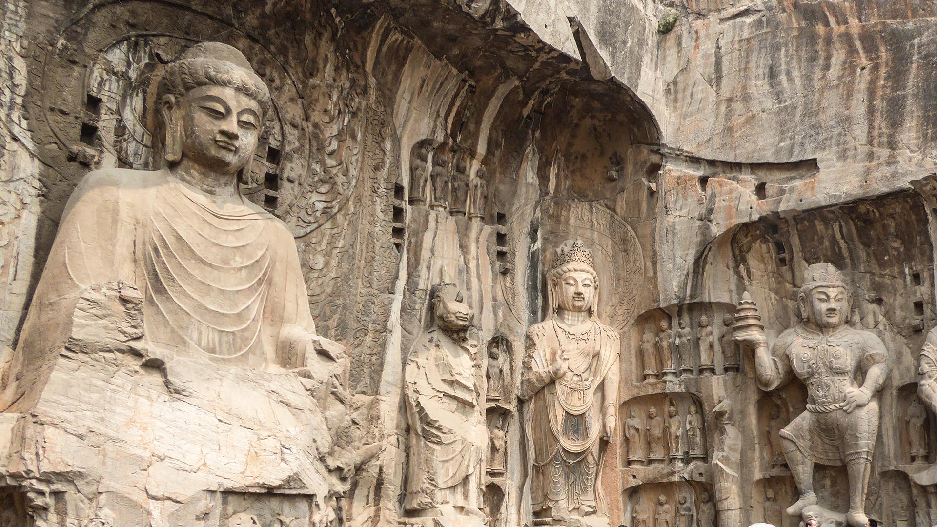 The Longmen Caves near Luoyang