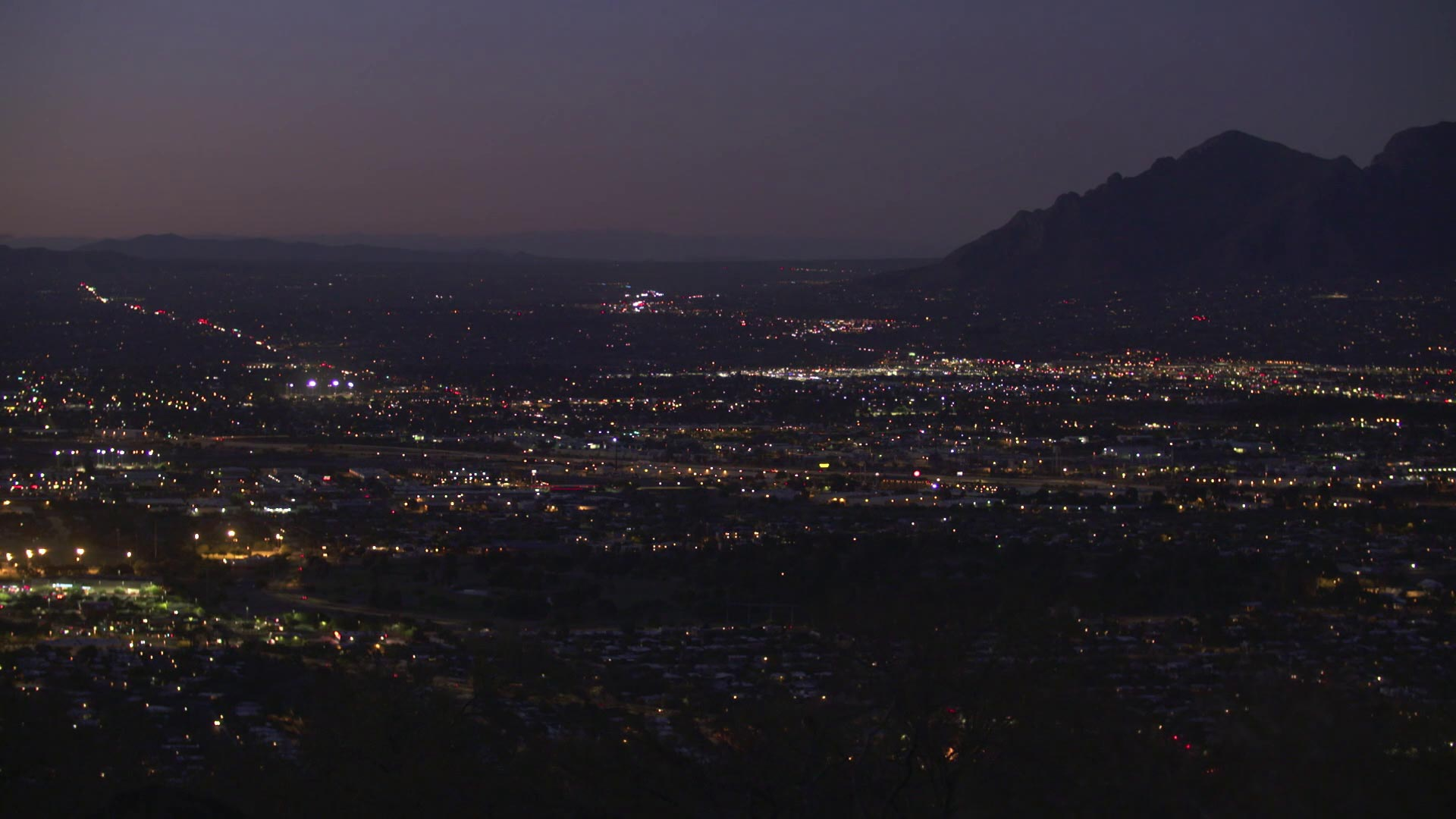 Tucson Cityscape City Lights Night hero