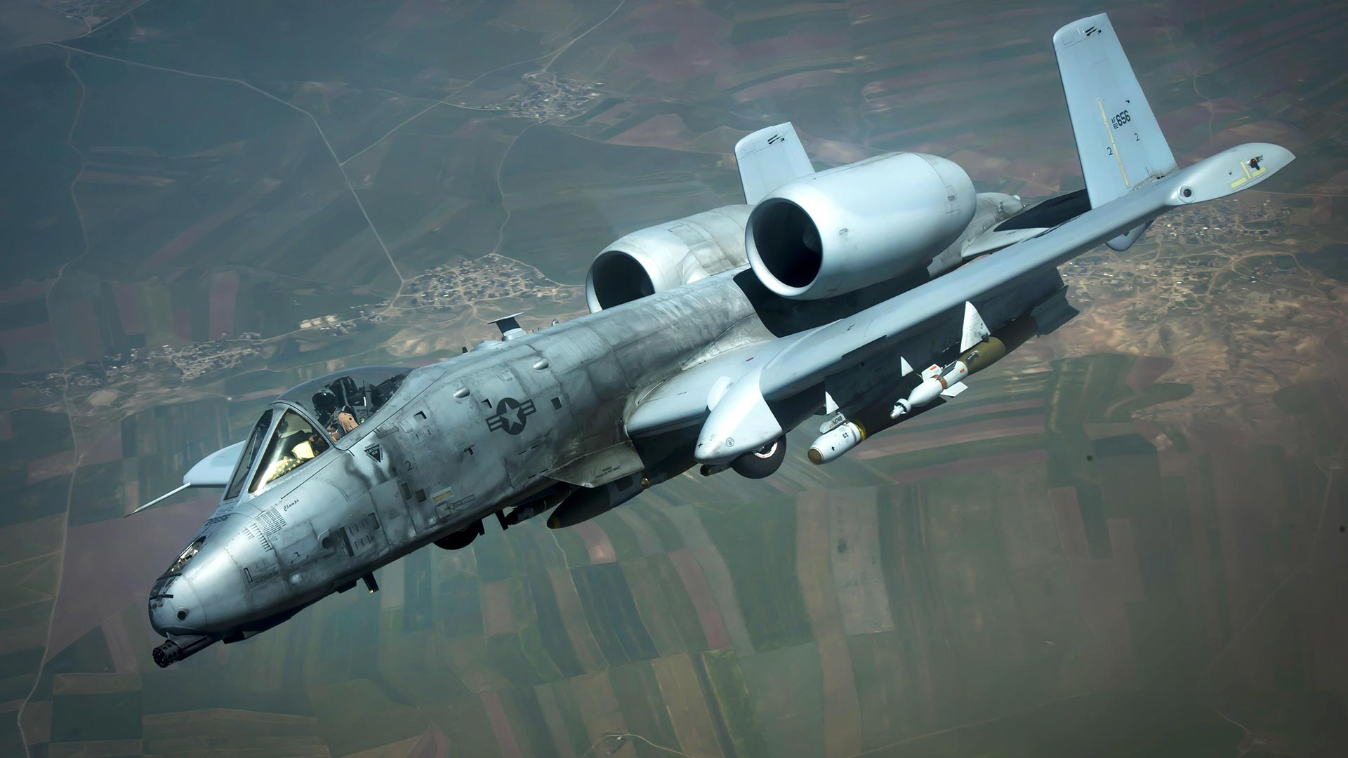 An A-10 Thunderbolt II flying for a mission in support of Operation Inherent Resolve, May 2017.