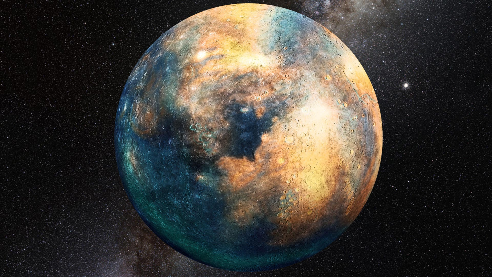 A planetary mass the size of Mars could be warping the orbits of some smaller objects beyond Neptune.