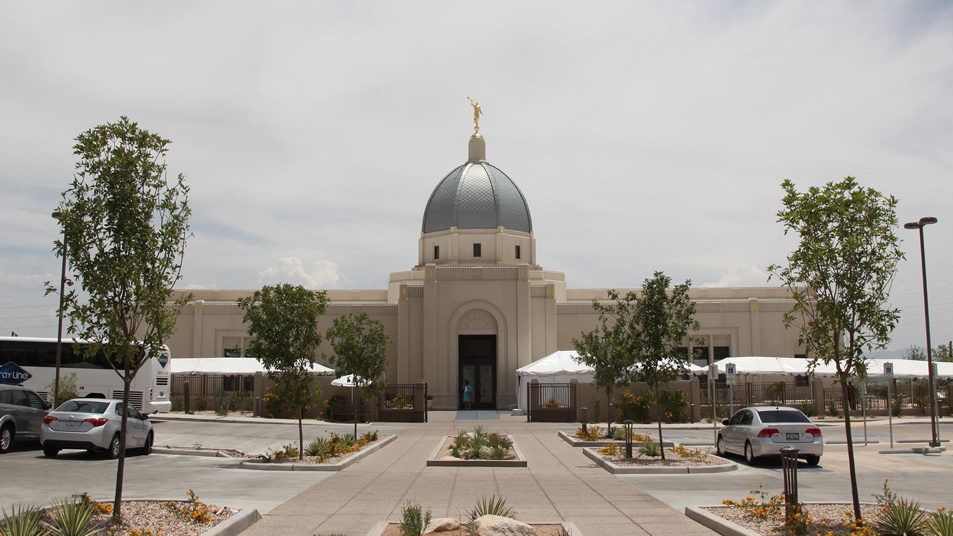 Tucson Mormon Temple as it readies for public tours in early June, 2017