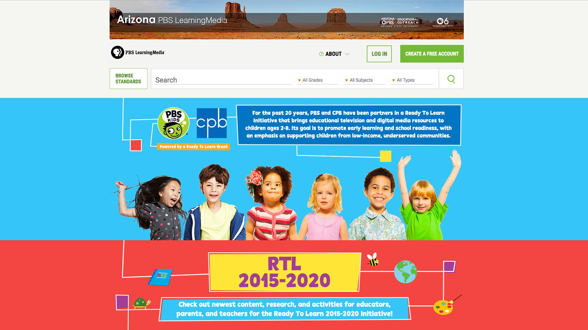 ready to learn portal in pbs learningmedia azpm