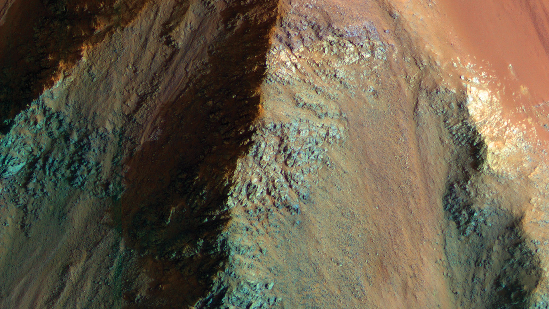 An image captured by the University of Arizona-operated HiRISE camera.