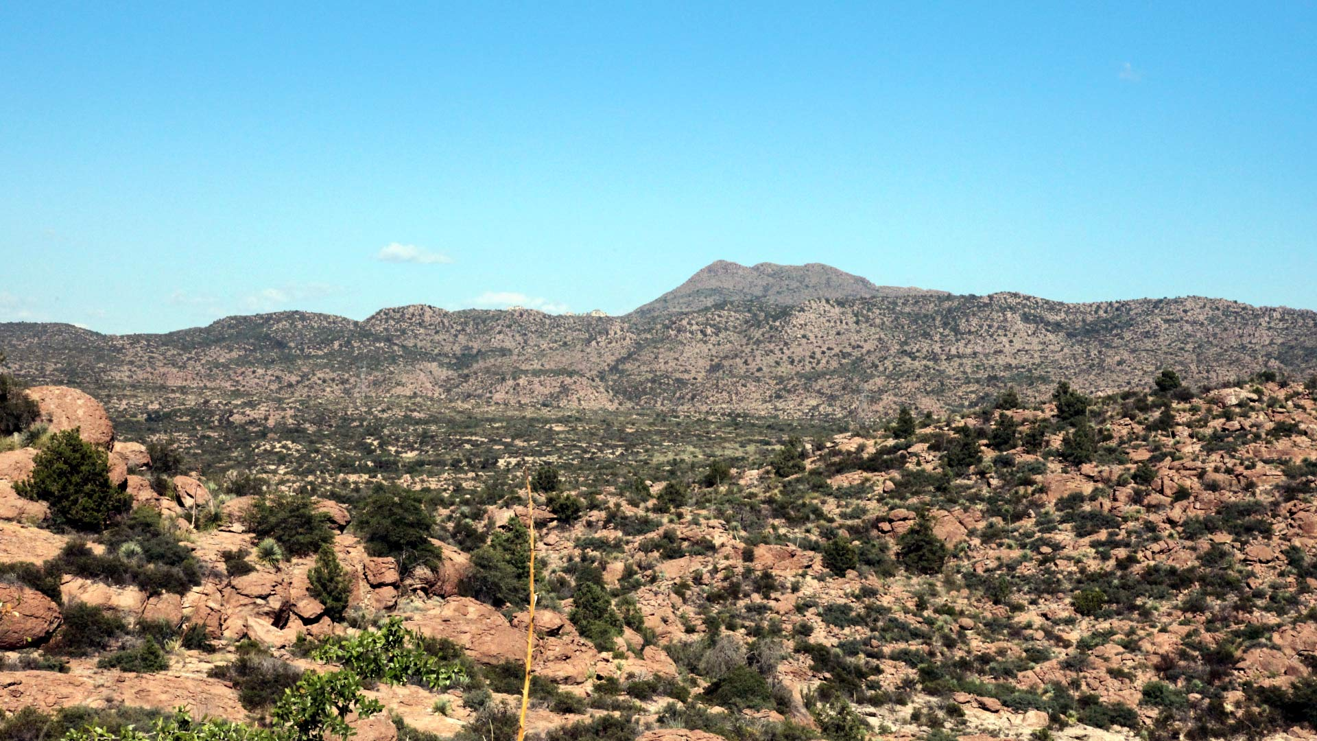 Oak Flat, east of Superior, Arizona. A company proposes to build one of the world's largest underground copper mines at this location.