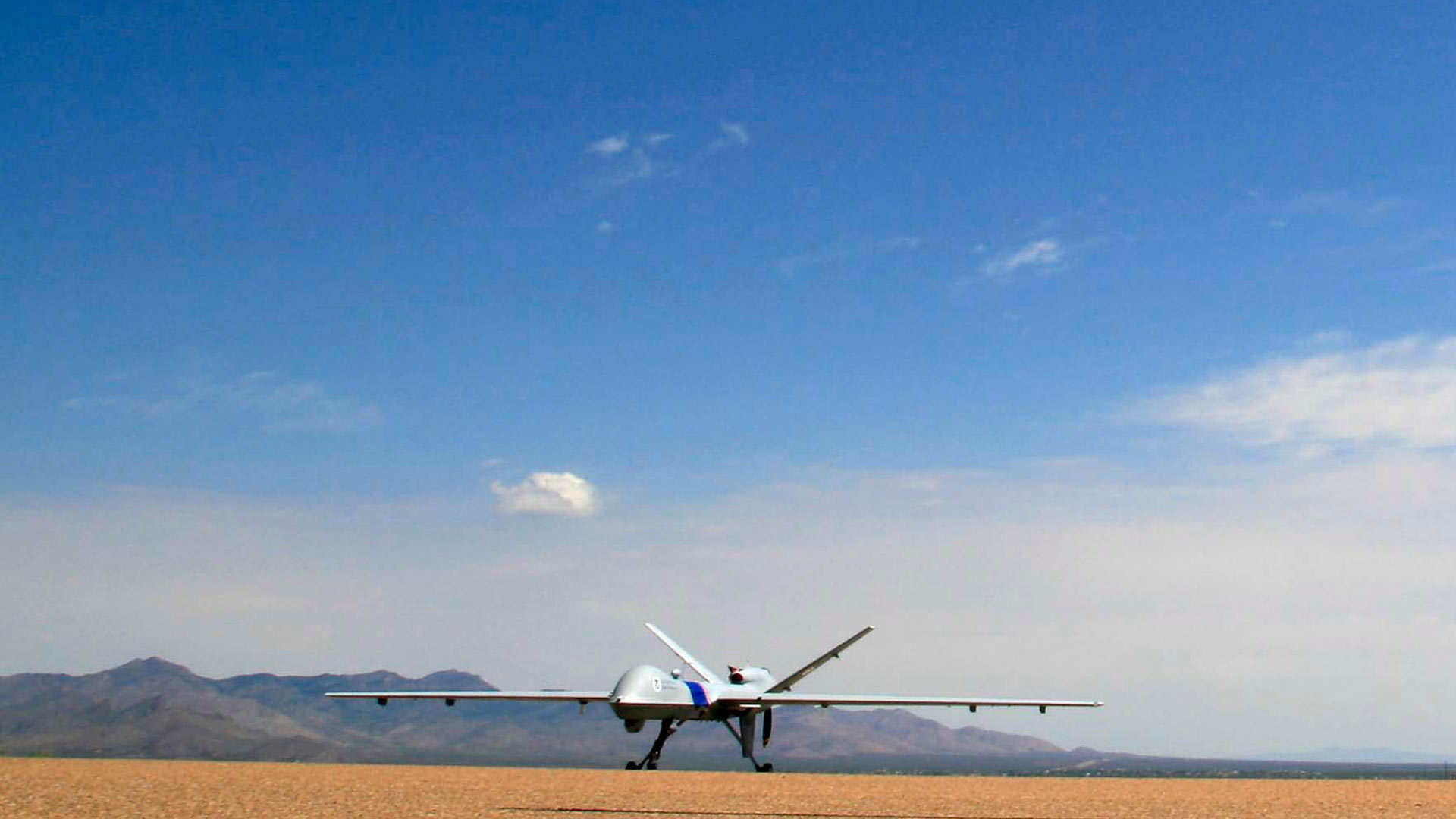 A Customs and Border Protection unmanned aircraft in Sierra Vista.