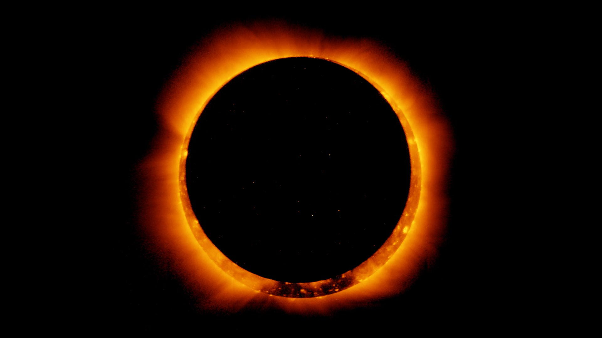 On Jan. 4, 2011, the Hinode satellite captured these breathtaking images of an annular solar eclipse.