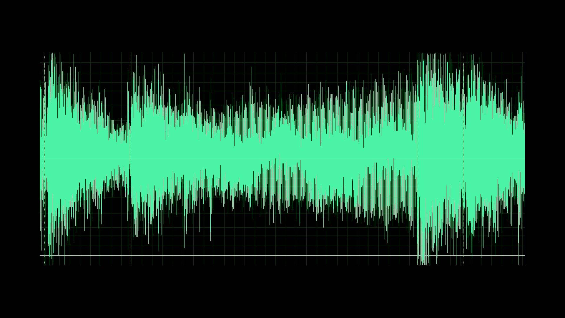 An audio waveform.
