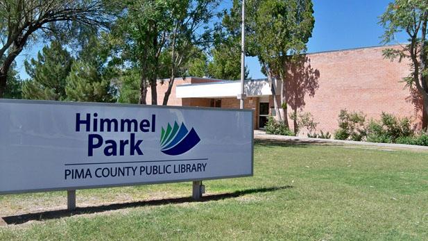 himmel park library exterior spotlight