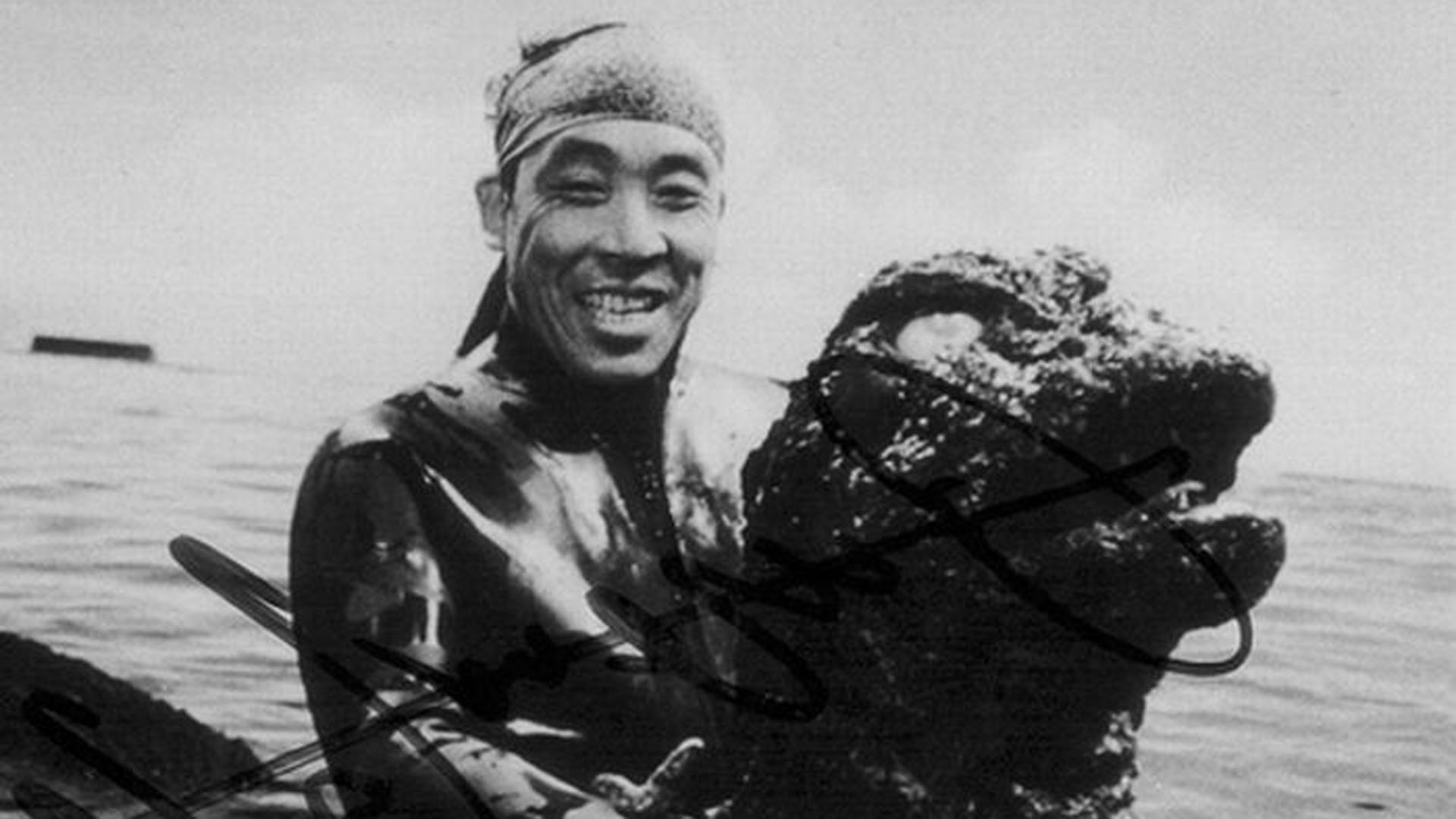 Haruo Nakajima played the part of Godzilla - and many other Toho studios monsters - for more than 20 years.