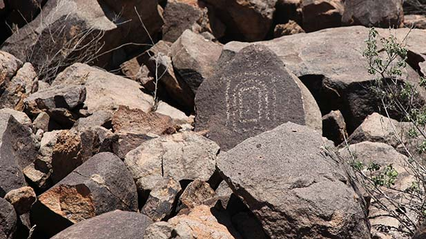 Cocoraque Butte petroglyph