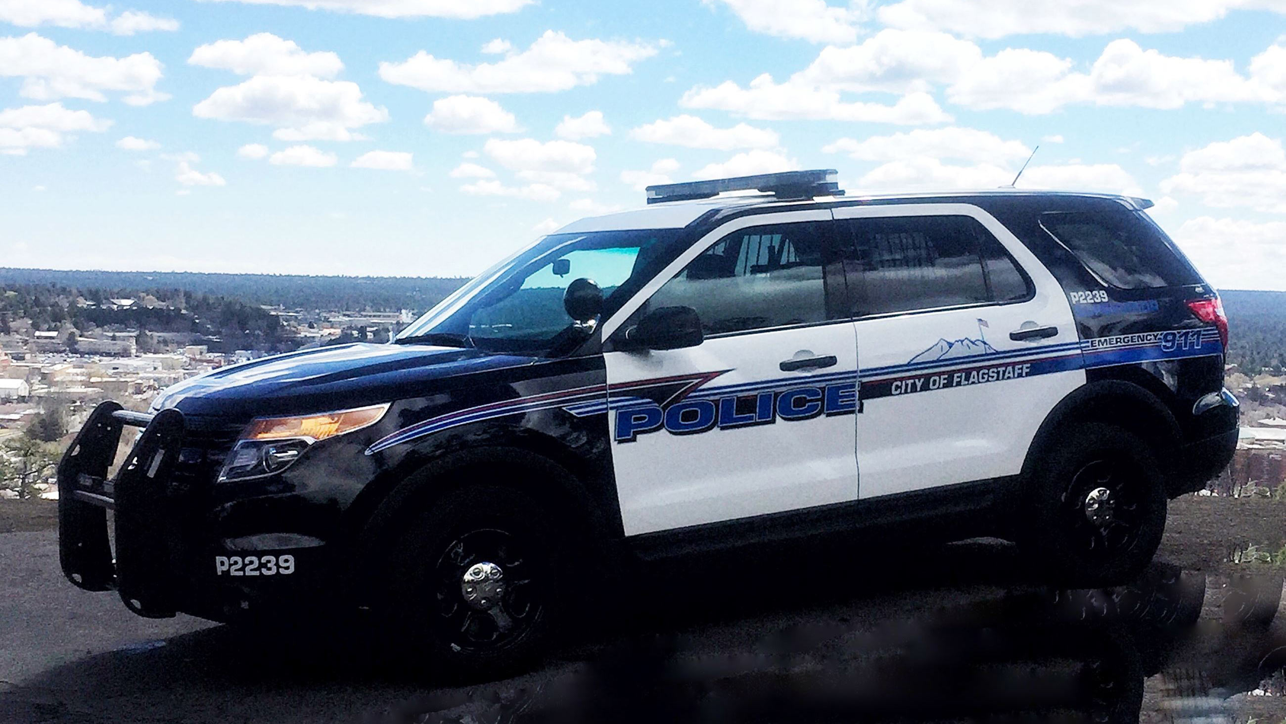A Flagstaff Police vehicle.