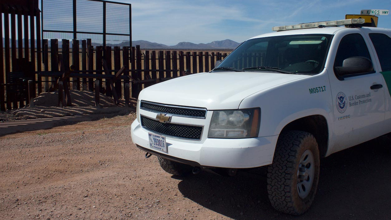 Border Patrol parked truck hero