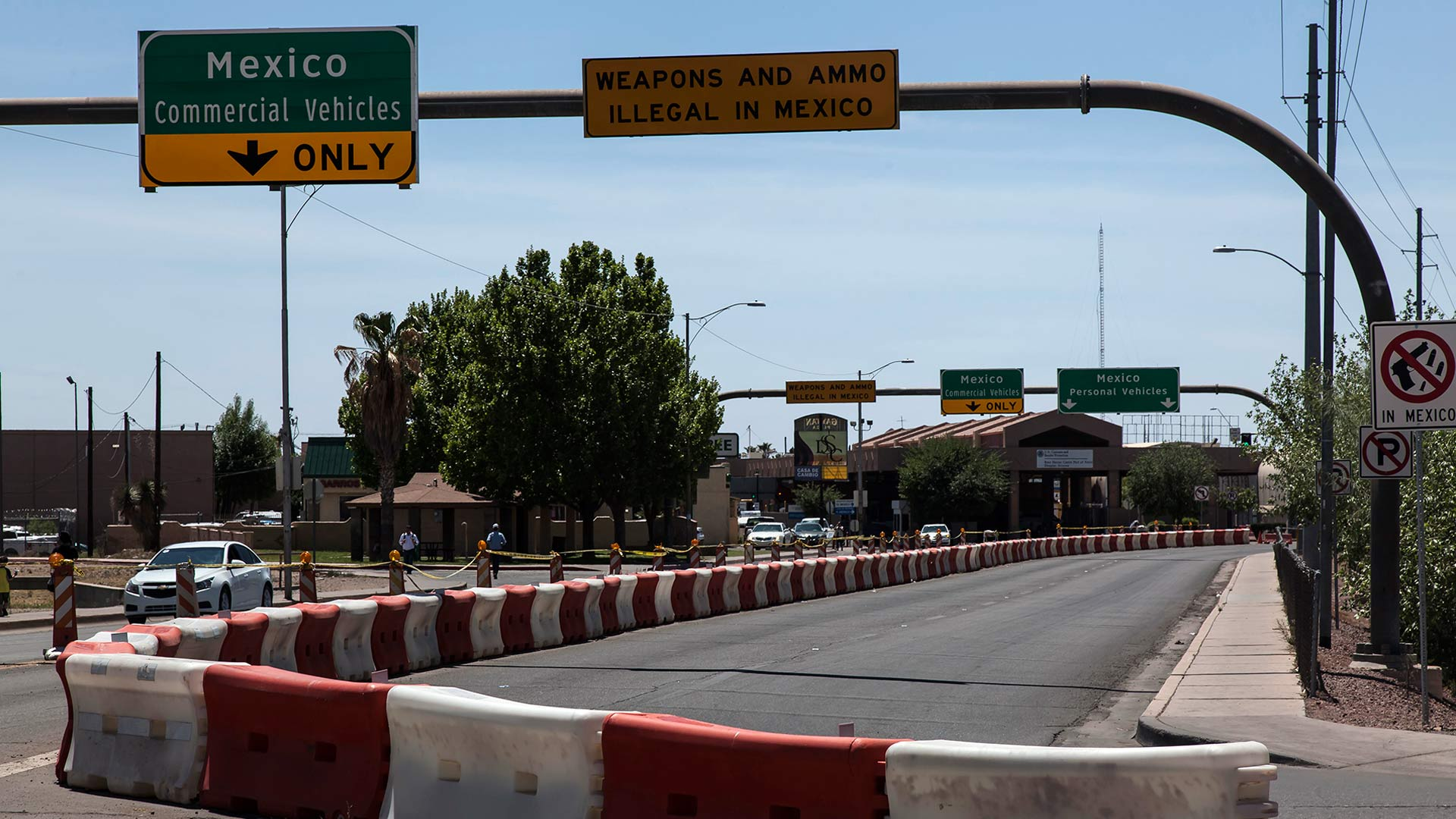 The port of entry in Douglas, Arizona in April 2016.
