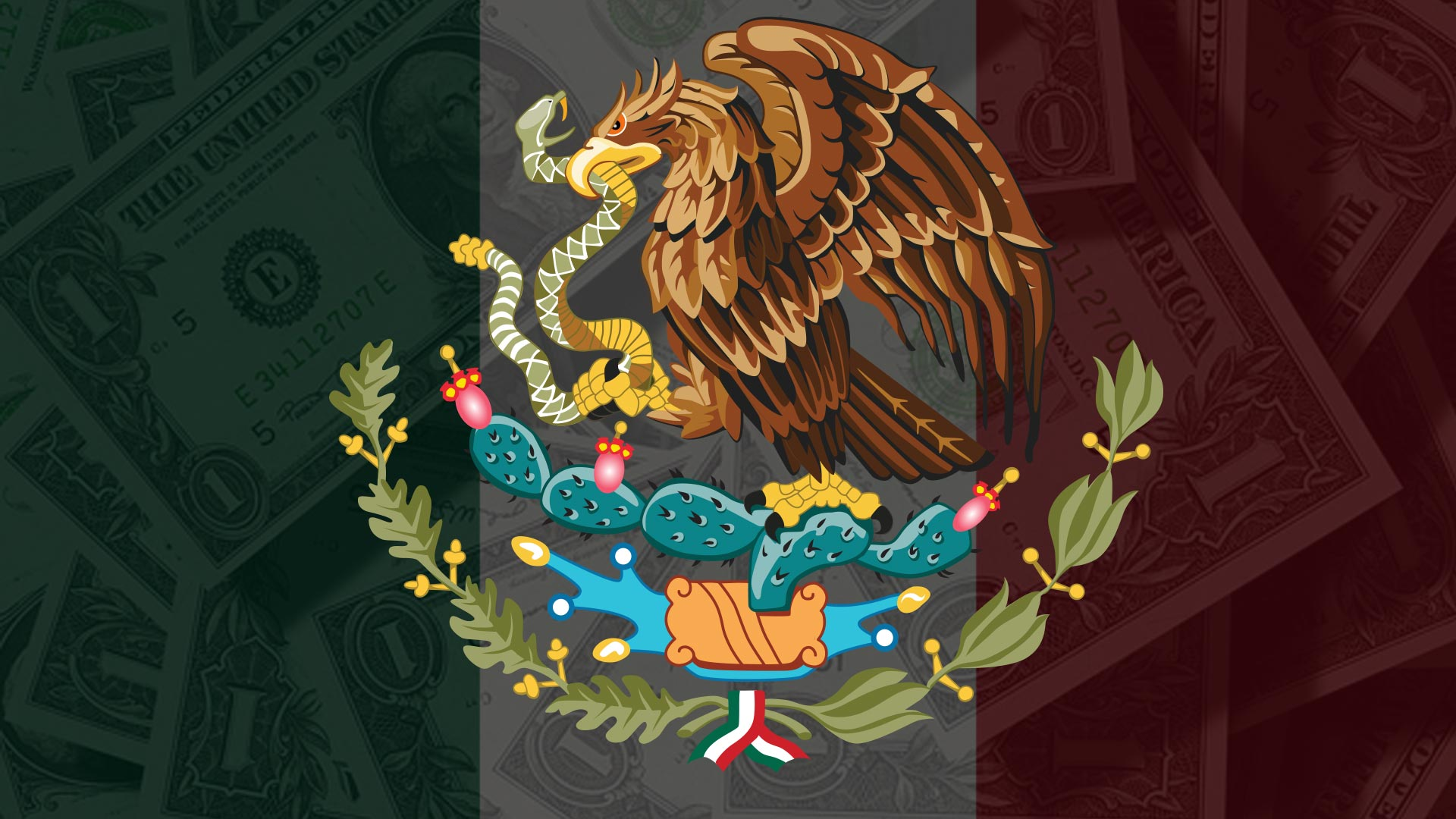 Mexican flag dollars