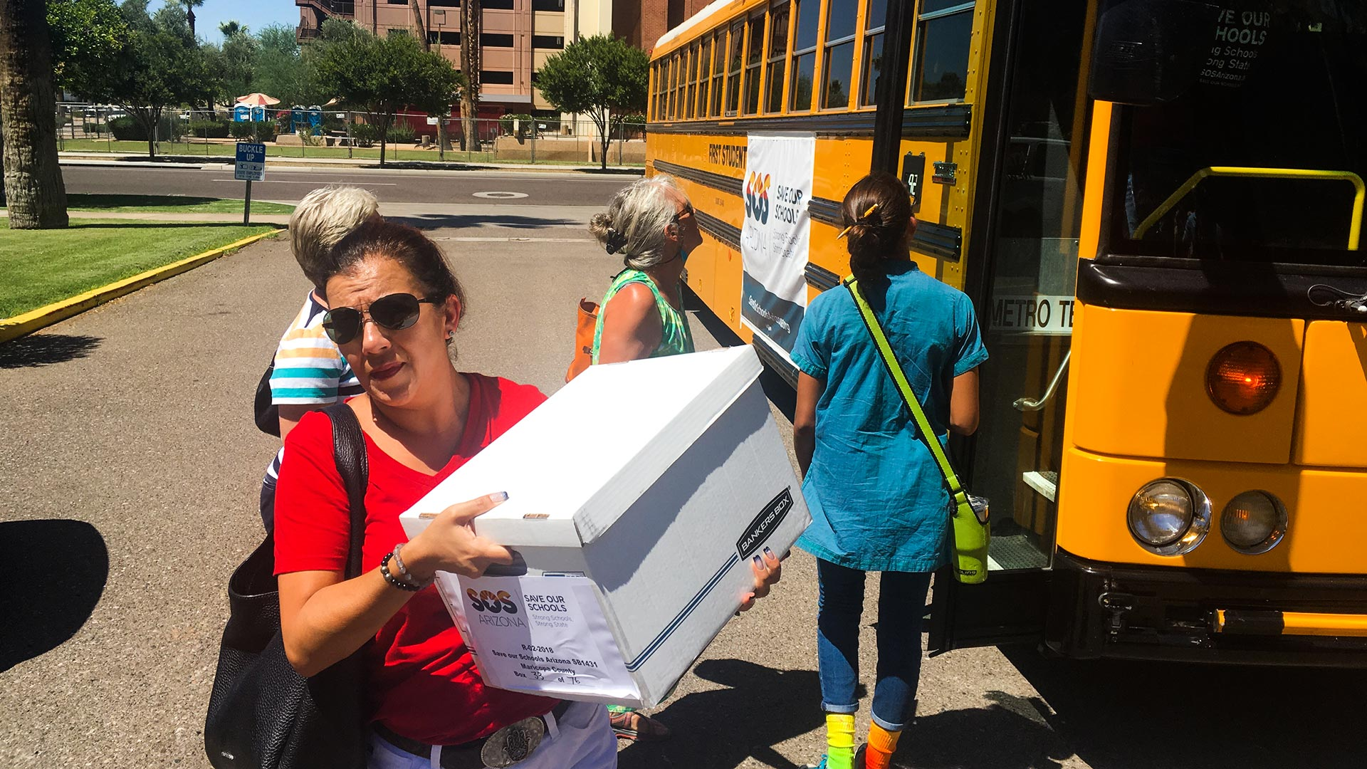 The group Save Our Schools worked to gather signatures opposing legislation that would expand school vouchers in Arizona.