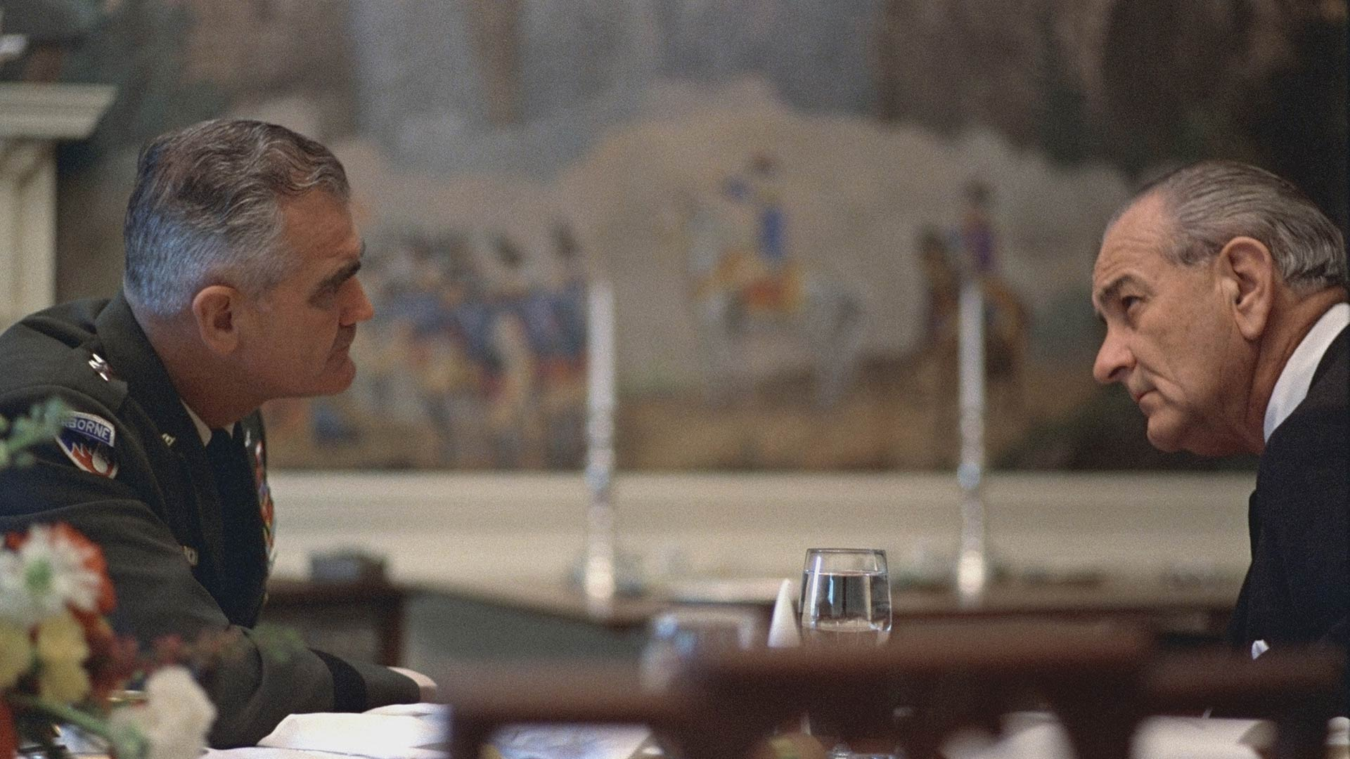 General William Westmoreland and President Lyndon B. Johnson. April 4, 1968.