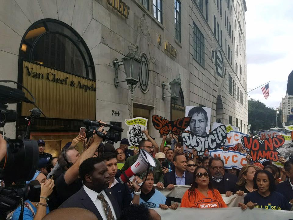 Raúl Grijalva protest