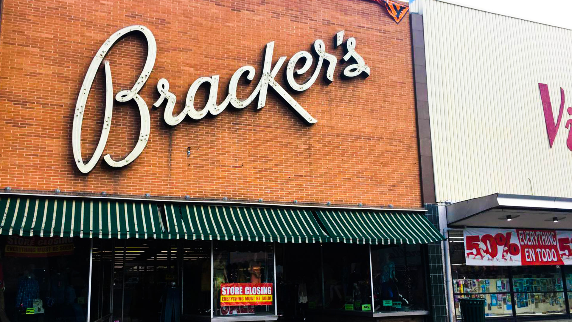 The Bracker's department store in Nogales, Arizona, is set to close October 15, 2017.
